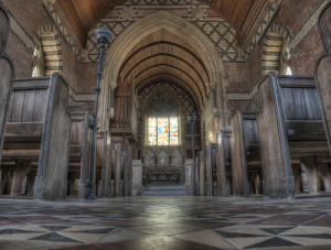 Interior of the church - by Dave Bennett