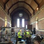 Members of PCC inspecting the church