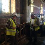 Members of the PCC inspect work in the chancel