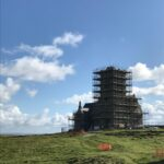 The church in scaffold